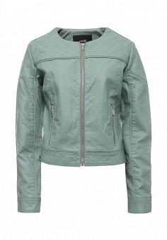 Куртка кожаная, oodji, цвет: мятный. Артикул: OO001EWRGY64. Женская одежда / Верхняя одежда / Кожаные куртки