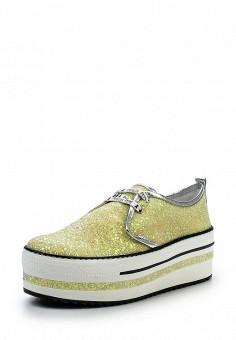 Кеды, Patrizia Pepe, цвет: желтый. Артикул: PA748AWPTM31. Женская обувь / Кроссовки и кеды