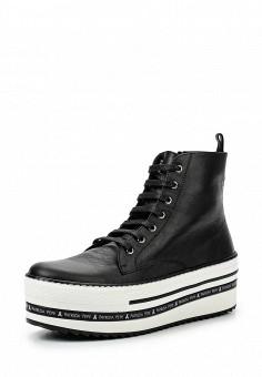 Кеды, Patrizia Pepe, цвет: черный. Артикул: PA748AWPTM34. Женская обувь / Кроссовки и кеды