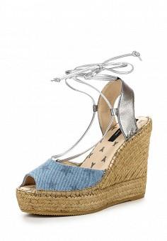 Босоножки, Patrizia Pepe, цвет: голубой. Артикул: PA748AWPTM57. Премиум / Обувь / Босоножки