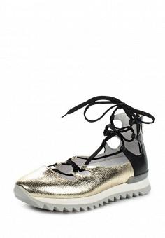 Туфли, Patrizia Pepe, цвет: золотой. Артикул: PA748AWPTM60. Премиум / Обувь / Туфли