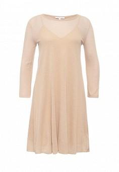 Платье, Patrizia Pepe, цвет: бежевый. Артикул: PA748EWPAE32. Премиум / Одежда / Платья и сарафаны