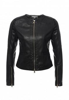 Куртка кожаная, Patrizia Pepe, цвет: черный. Артикул: PA748EWPAF31. Женская одежда / Верхняя одежда / Кожаные куртки