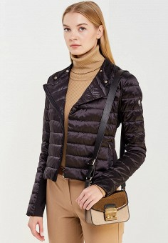 Пуховик, Patrizia Pepe, цвет: черный. Артикул: PA748EWTUR49. Премиум / Одежда / Верхняя одежда / Пуховики и зимние куртки