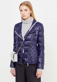 Пуховик, Patrizia Pepe, цвет: синий. Артикул: PA748EWTUR55. Премиум / Одежда / Верхняя одежда / Пуховики и зимние куртки