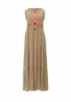 Платье, Pennyblack, цвет: коричневый, хаки. Артикул: PE003EWOHV82. Премиум / Одежда / Платья и сарафаны