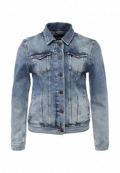Куртка джинсовая, Pepe Jeans, цвет: синий. Артикул: PE299EWPUQ00. Женская одежда / Тренды сезона / Летний деним / Джинсовые куртки