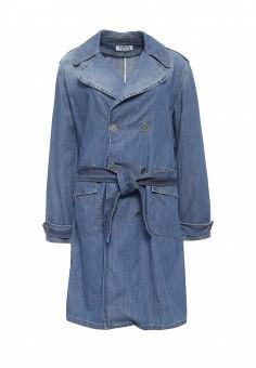 Плащ, Pinko, цвет: голубой. Артикул: PI754EWOIC93. Премиум / Одежда / Верхняя одежда / Плащи и тренчкоты
