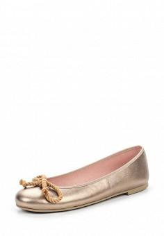 Балетки, Pretty Ballerinas, цвет: золотой. Артикул: PR758AWRHD45. Премиум / Обувь / Балетки