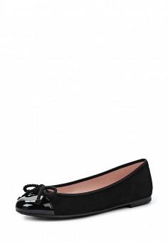Балетки, Pretty Ballerinas, цвет: черный. Артикул: PR758AWRHD50. Премиум / Обувь / Балетки