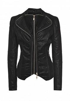 Куртка кожаная, QED London, цвет: черный. Артикул: QE001EWRBP11. Женская одежда / Верхняя одежда / Кожаные куртки