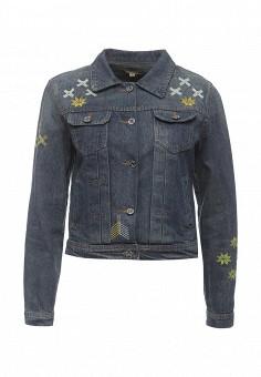 Куртка джинсовая, QED London, цвет: синий. Артикул: QE001EWROL74. Женская одежда / Верхняя одежда / Джинсовые куртки