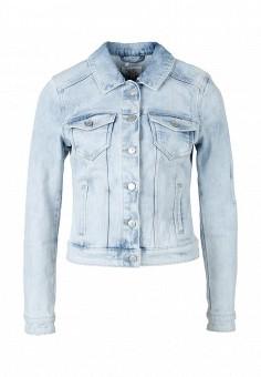 Куртка джинсовая, Q/S designed by, цвет: голубой. Артикул: QS006EWROI68. Женская одежда / Верхняя одежда / Джинсовые куртки