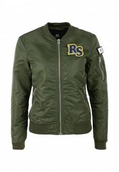 Куртка утепленная, Q/S designed by, цвет: хаки. Артикул: QS006EWSBP32. Женская одежда / Верхняя одежда / Демисезонные куртки