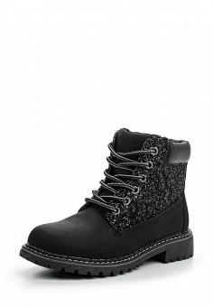 Ботинки, Queen Vivi, цвет: черный. Артикул: QU004AWLIK96. Женская обувь / Ботинки