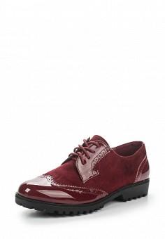 Ботинки, Queen Vivi, цвет: бордовый. Артикул: QU004AWSNU32. Женская обувь / Ботинки