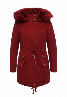 Парка, Regular, цвет: бордовый. Артикул: RE042EWNDR59. Женская одежда / Верхняя одежда / Парки