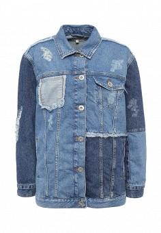 Куртка джинсовая, River Island, цвет: синий. Артикул: RI004EWSPR26. Женская одежда / Тренды сезона / Летний деним / Джинсовые куртки