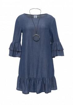 Платье, Rinascimento, цвет: синий. Артикул: RI005EWQET51. Женская одежда / Платья и сарафаны / Джинсовые платья