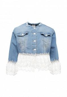 Куртка джинсовая, Rinascimento, цвет: голубой. Артикул: RI005EWSDX54. Женская одежда / Тренды сезона / Летний деним / Джинсовые куртки