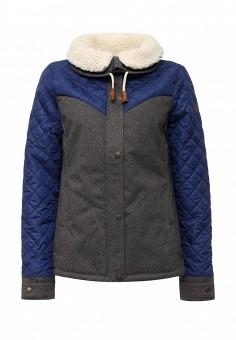 Куртка утепленная, Roxy, цвет: серый. Артикул: RO165EWKCF52. Женская одежда / Верхняя одежда / Пуховики и зимние куртки