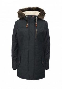 Куртка утепленная, Roxy, цвет: черный. Артикул: RO165EWKCF63. Женская одежда / Верхняя одежда / Пуховики и зимние куртки