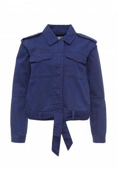 Куртка джинсовая, Roxy, цвет: синий. Артикул: RO165EWPFP78. Женская одежда / Верхняя одежда / Джинсовые куртки