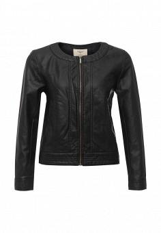 Куртка кожаная, Sela, цвет: черный. Артикул: SE001EWOPZ36. Женская одежда / Верхняя одежда / Кожаные куртки