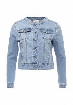 Куртка джинсовая, Sela, цвет: голубой. Артикул: SE001EWOQD33. Женская одежда / Верхняя одежда / Джинсовые куртки