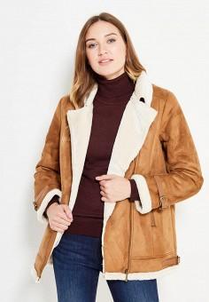 Дубленка, Sela, цвет: коричневый. Артикул: SE001EWURP19. Женская одежда / Верхняя одежда / Шубы и дубленки