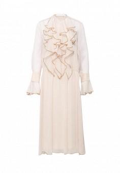 Платье, See by Chloe, цвет: бежевый. Артикул: SE011EWNZO88. Женская одежда / Платья и сарафаны / Вечерние платья