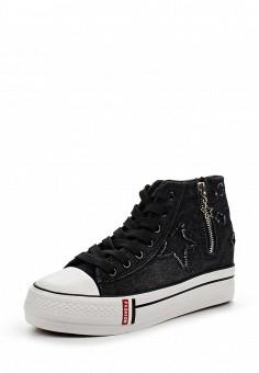 Кеды, Sergio Todzi, цвет: черный. Артикул: SE025AWSOU23. Женская обувь / Кроссовки и кеды