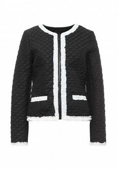 Куртка, S'Ebo, цвет: черный. Артикул: SE032EMQOE21. Женская одежда / Верхняя одежда / Демисезонные куртки