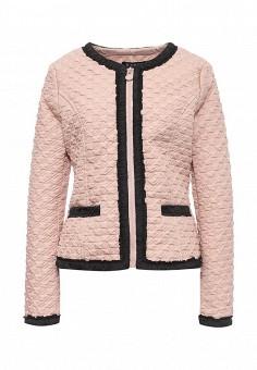 Куртка утепленная, S'Ebo, цвет: бежевый. Артикул: SE032EMQOE23. Женская одежда / Верхняя одежда / Демисезонные куртки