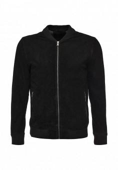 Куртка кожаная, Selected Homme, цвет: черный. Артикул: SE392EMJVY52. Мужская одежда / Верхняя одежда / Кожаные куртки