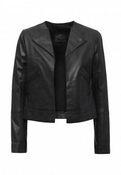 Куртка кожаная, Sinequanone, цвет: черный. Артикул: SI954EWSZG64. Женская одежда / Верхняя одежда / Кожаные куртки
