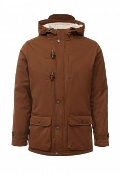 Парка, Springfield, цвет: коричневый. Артикул: SP014EMKMD78. Мужская одежда / Верхняя одежда / Парки