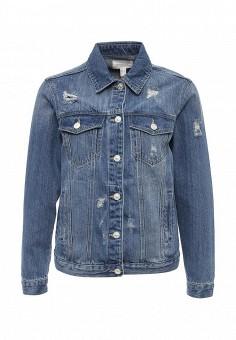 Куртка джинсовая, Springfield, цвет: синий. Артикул: SP014EWRKX94. Женская одежда / Тренды сезона / Летний деним / Джинсовые куртки
