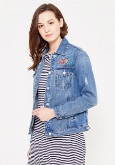 Куртка джинсовая, Springfield, цвет: синий. Артикул: SP014EWTBC74. Женская одежда / Тренды сезона / Летний деним / Джинсовые куртки