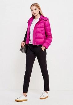 Пуховик, Sportmax Code, цвет: фуксия. Артикул: SP027EWTMG85. Женская одежда / Верхняя одежда / Пуховики и зимние куртки