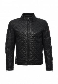 Куртка кожаная, Strellson, цвет: черный. Артикул: ST004EMJRC59. Мужская одежда / Верхняя одежда / Кожаные куртки