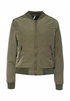 Куртка утепленная, Stella Morgan, цвет: хаки. Артикул: ST045EWQXT81. Женская одежда / Верхняя одежда / Демисезонные куртки