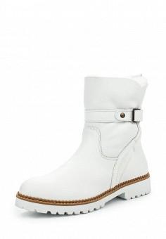 Полусапоги, Tamaris, цвет: белый. Артикул: TA171AWJNC47. Женская обувь / Сапоги
