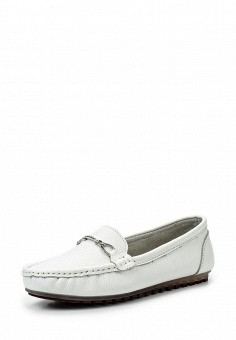 Мокасины, Tervolina, цвет: белый. Артикул: TE007AWTOK59. Женская обувь / Мокасины и топсайдеры