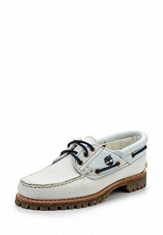 Топсайдеры, Timberland, цвет: белый. Артикул: TI007AWQMN23. Женская обувь / Мокасины и топсайдеры