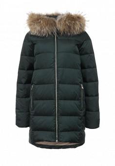 Пуховик, Tom Farr, цвет: зеленый. Артикул: TO005EWLJP29. Женская одежда / Верхняя одежда / Пуховики и зимние куртки