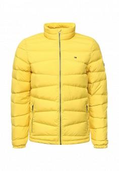 Пуховик, Tommy Hilfiger Denim, цвет: желтый. Артикул: TO013EMNSJ29. Мужская одежда / Верхняя одежда / Пуховики и зимние куртки