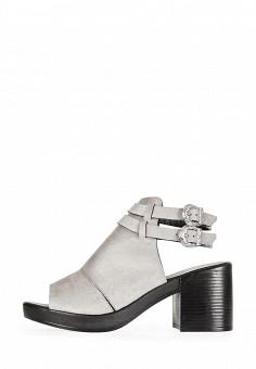 Босоножки, Topshop, цвет: серый. Артикул: TO029AWQJF92. Женская обувь / Босоножки
