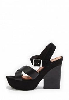Босоножки, Topshop, цвет: черный. Артикул: TO029AWRUN49. Женская обувь / Босоножки