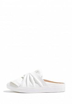 Шлепанцы, Topshop, цвет: белый. Артикул: TO029AWSIO54. Женская обувь / Шлепанцы и акваобувь